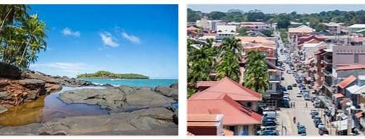 Cities and Towns in French Guiana